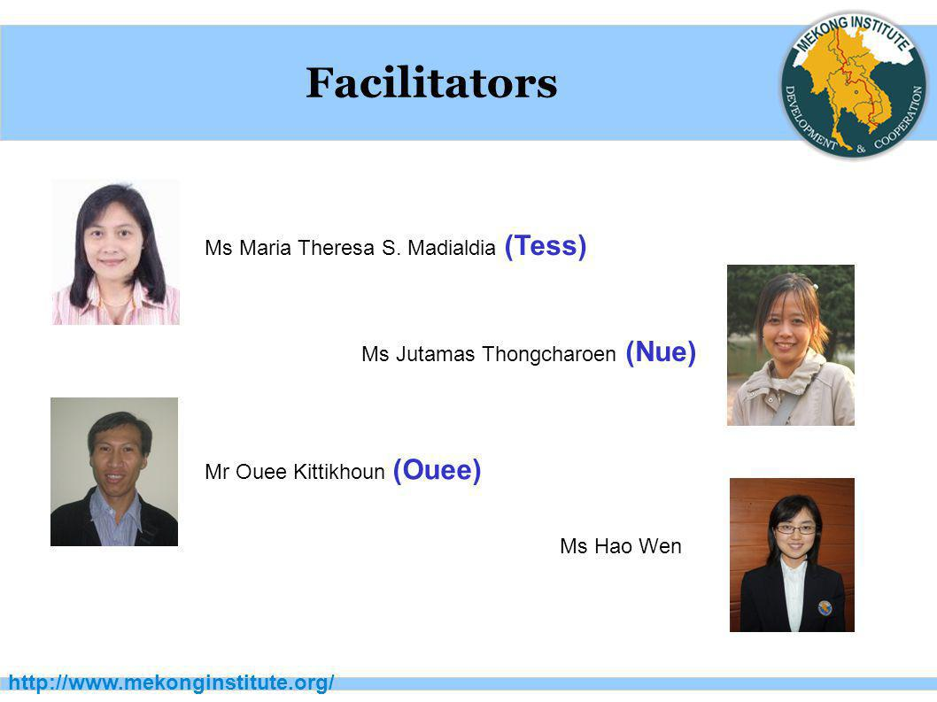 Facilitators Ms Maria Theresa S. Madialdia (Tess)