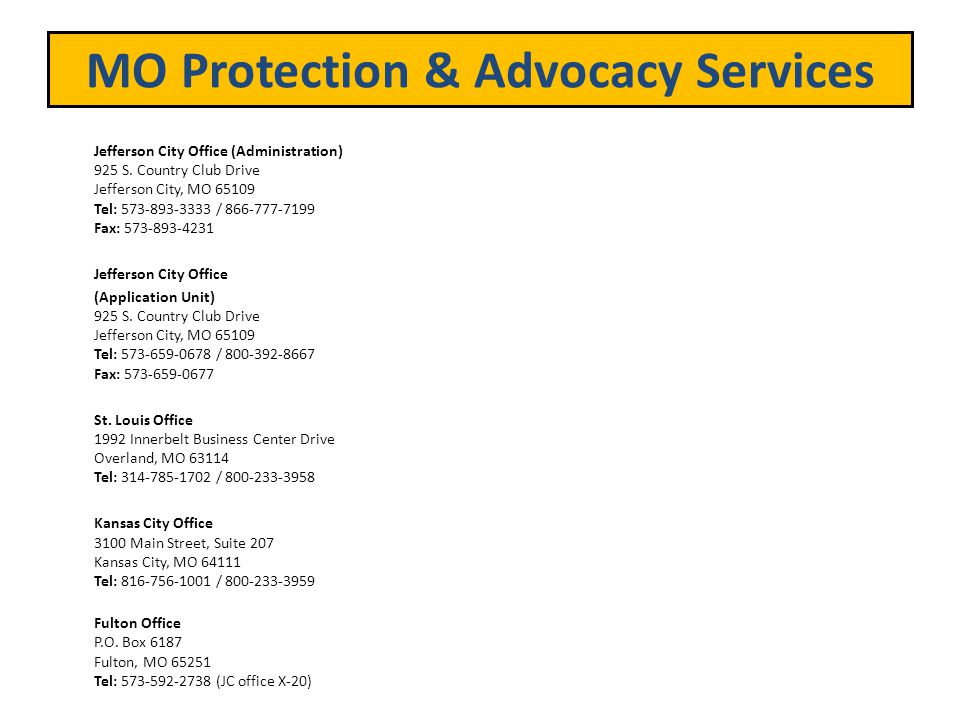 MO Protection & Advocacy Services