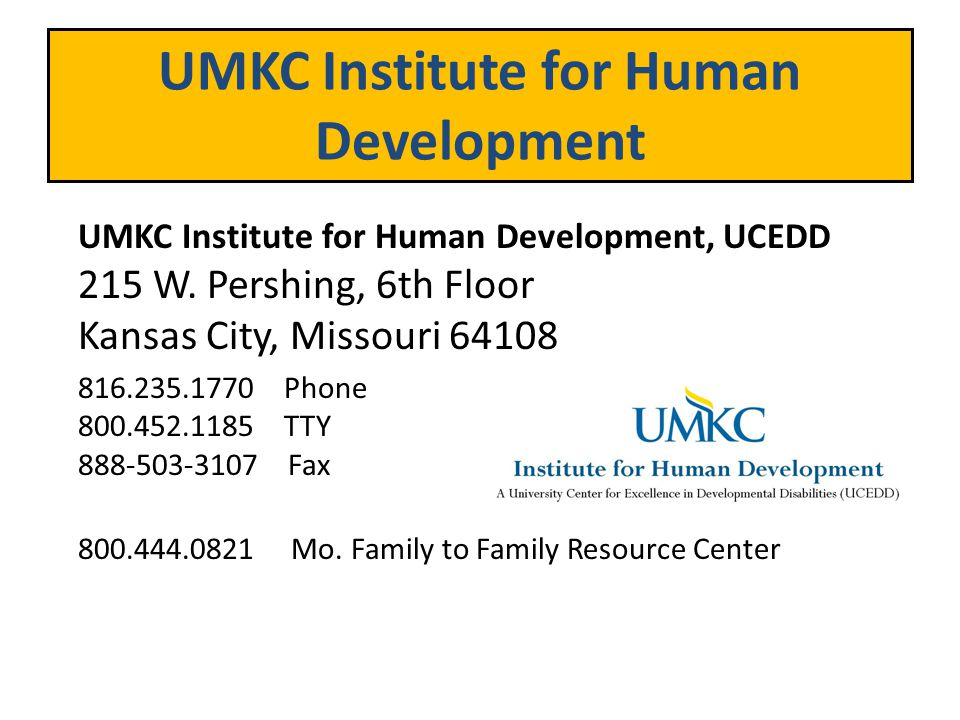 UMKC Institute for Human Development