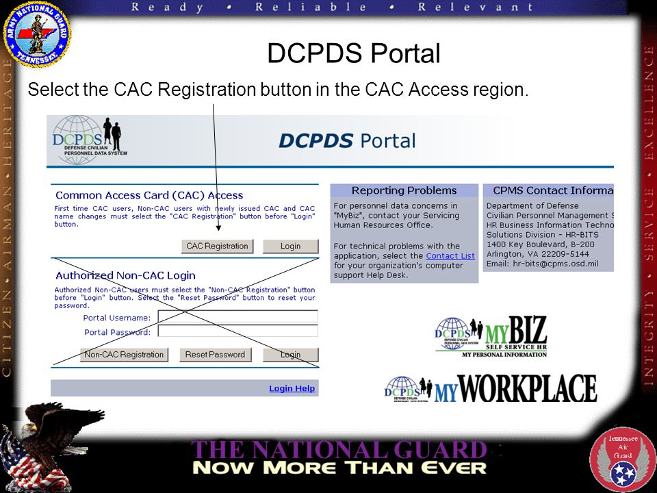 DCPDS Portal Select your non-email certificate at the Choose a Digital Certificate screen.