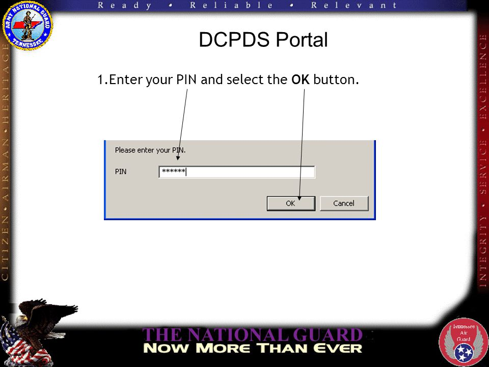 DCPDS Portal The DCPDS CAC Registration screen displays with your CAC Username. Enter the following in the CAC Registration region of the screen: