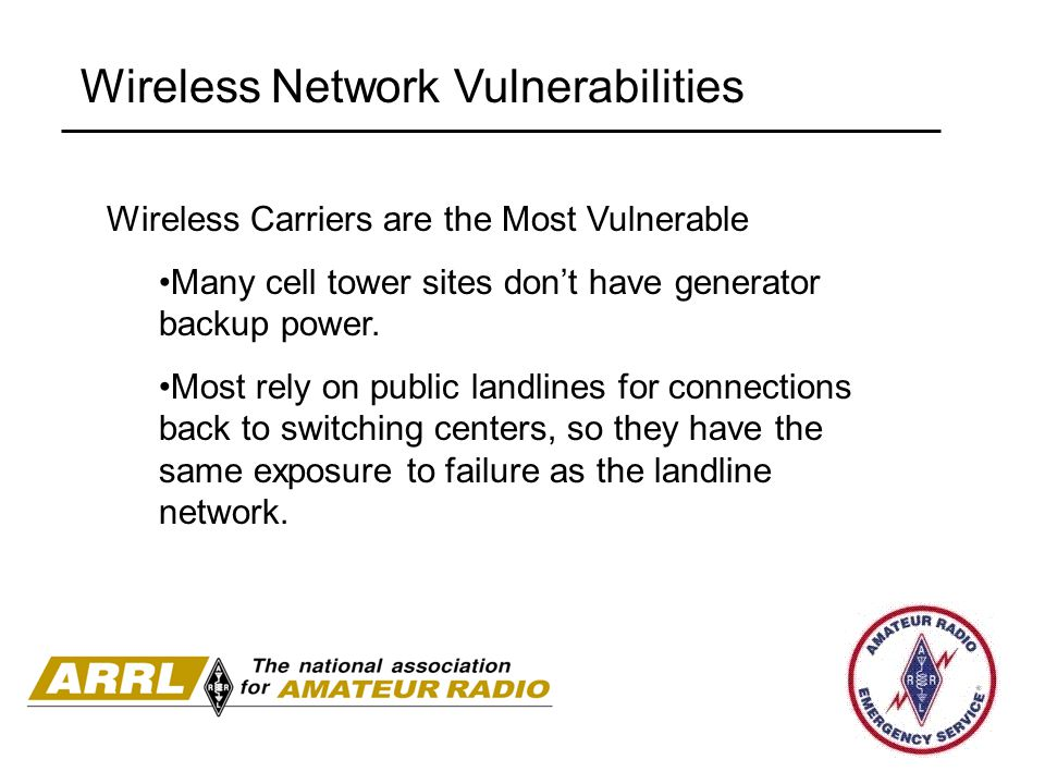 Wireless Network Vulnerabilities