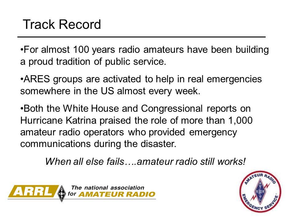When all else fails….amateur radio still works!