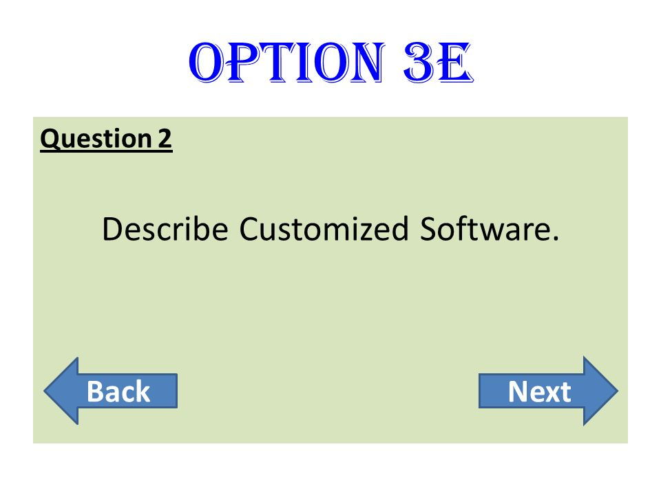 Describe Customized Software.