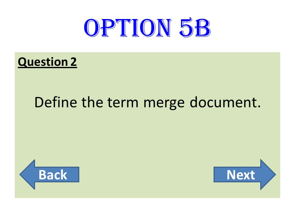Define the term merge document.