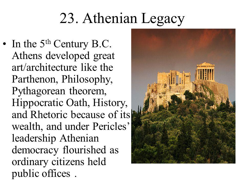 23. Athenian Legacy