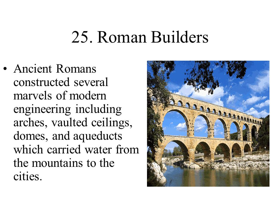 25. Roman Builders