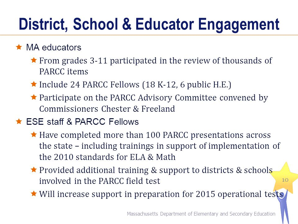 District, School & Educator Engagement