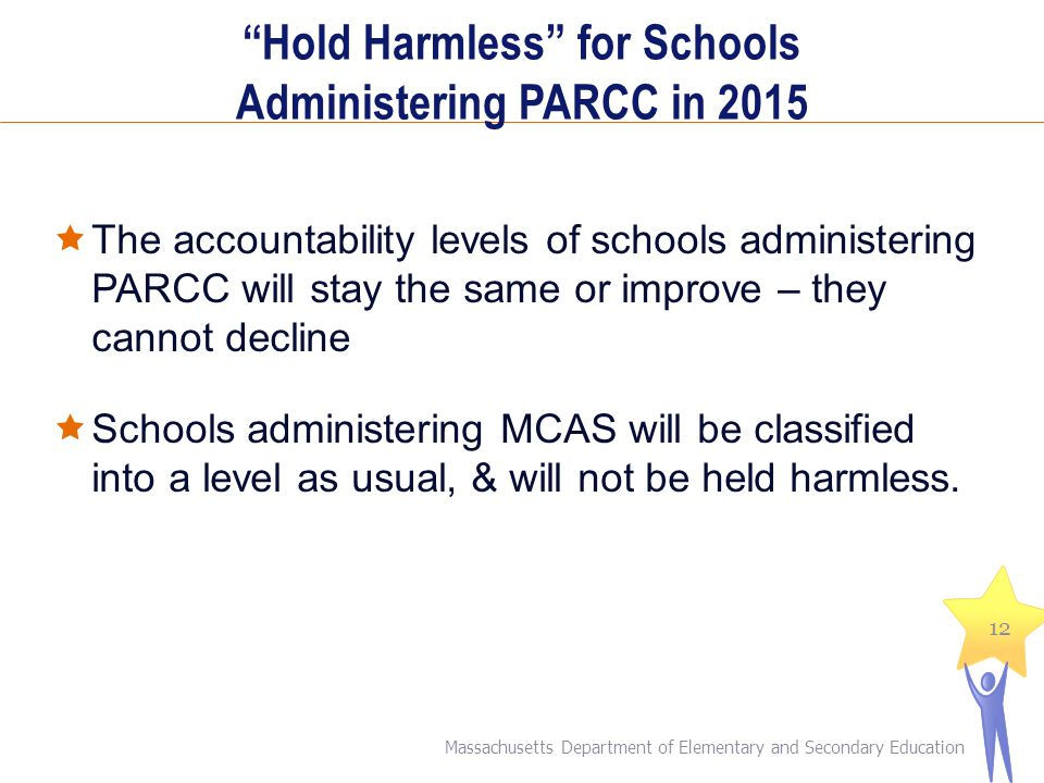Hold Harmless for Schools Administering PARCC in 2015