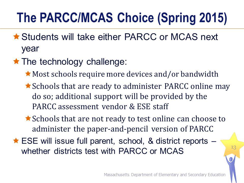 The PARCC/MCAS Choice (Spring 2015)