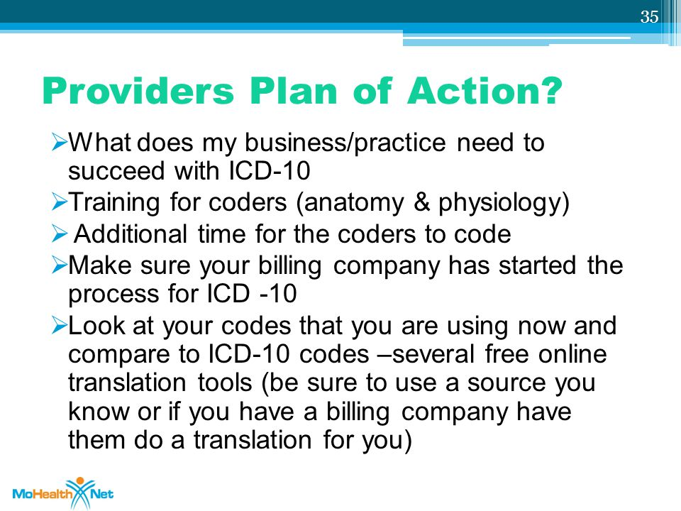 Providers Plan of Action