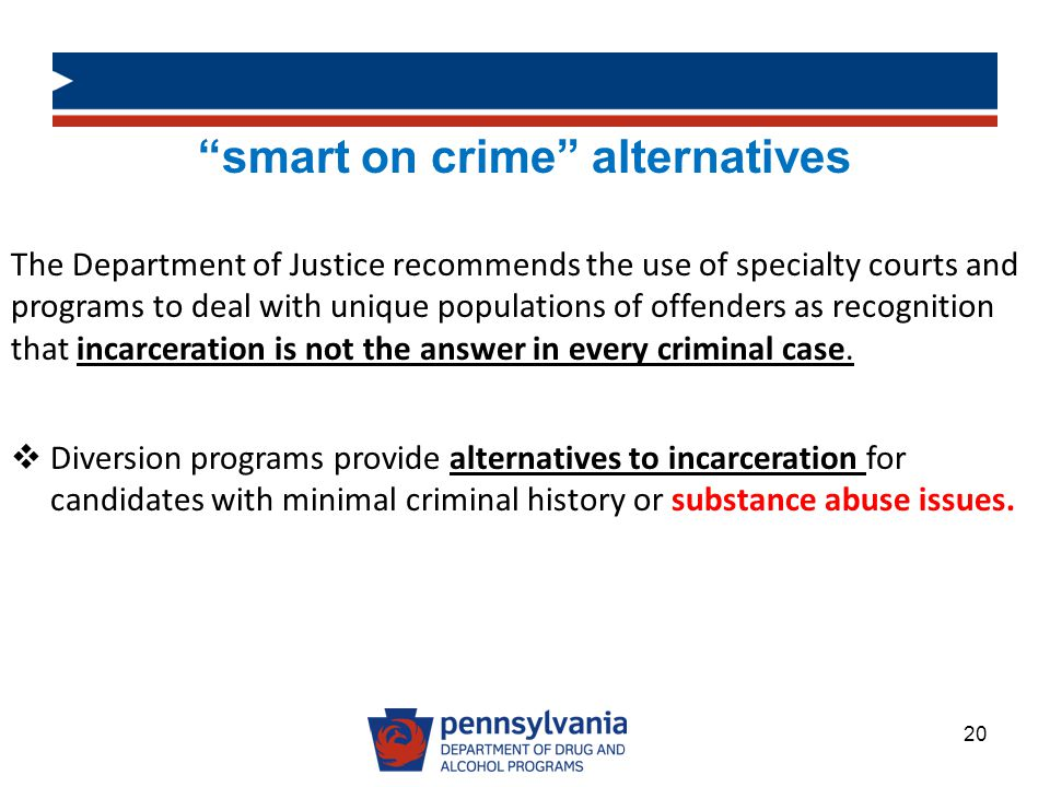 smart on crime alternatives