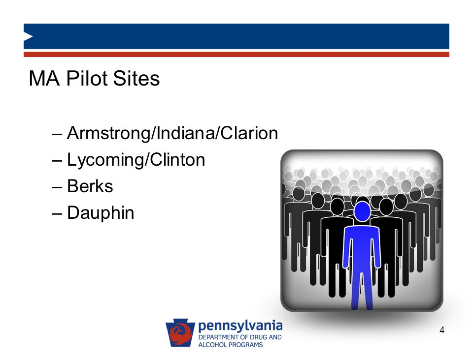 MA Pilot Sites Armstrong/Indiana/Clarion Lycoming/Clinton Berks