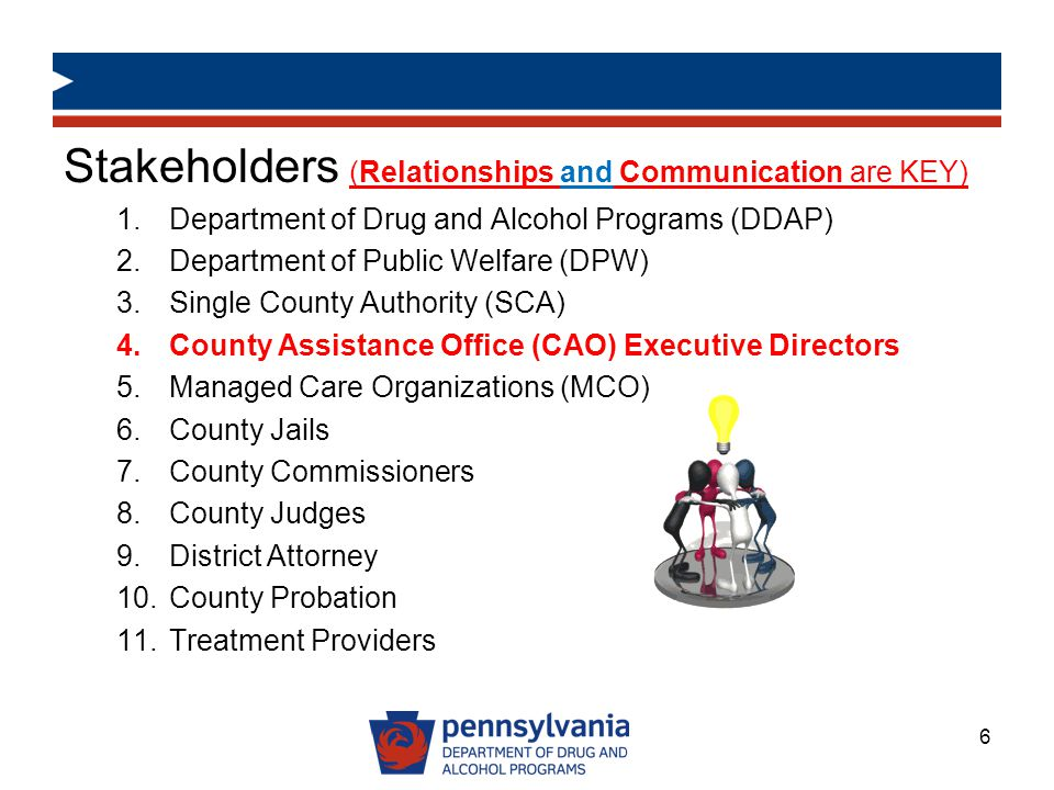 Stakeholders (Relationships and Communication are KEY)