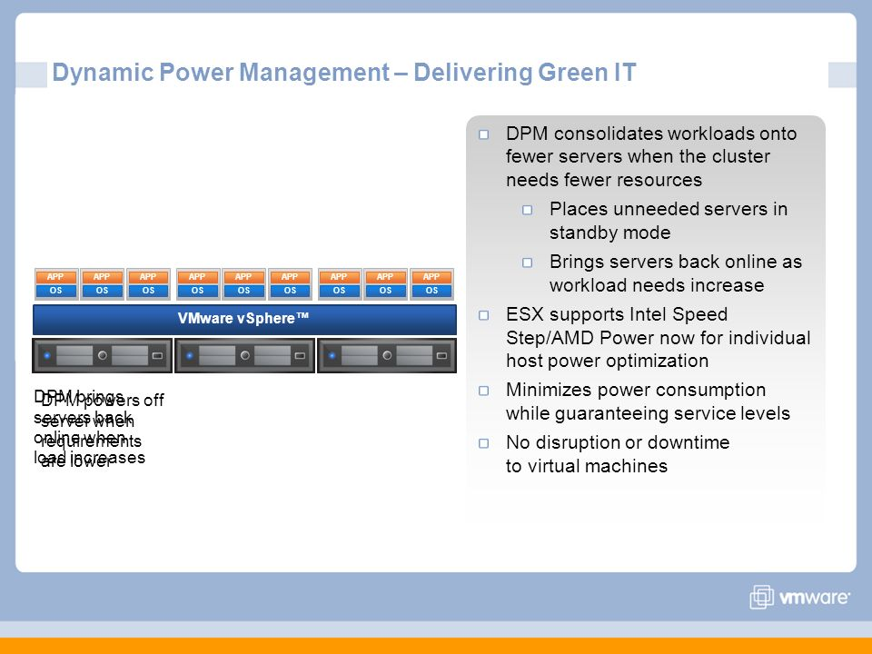 Dynamic Power Management – Delivering Green IT