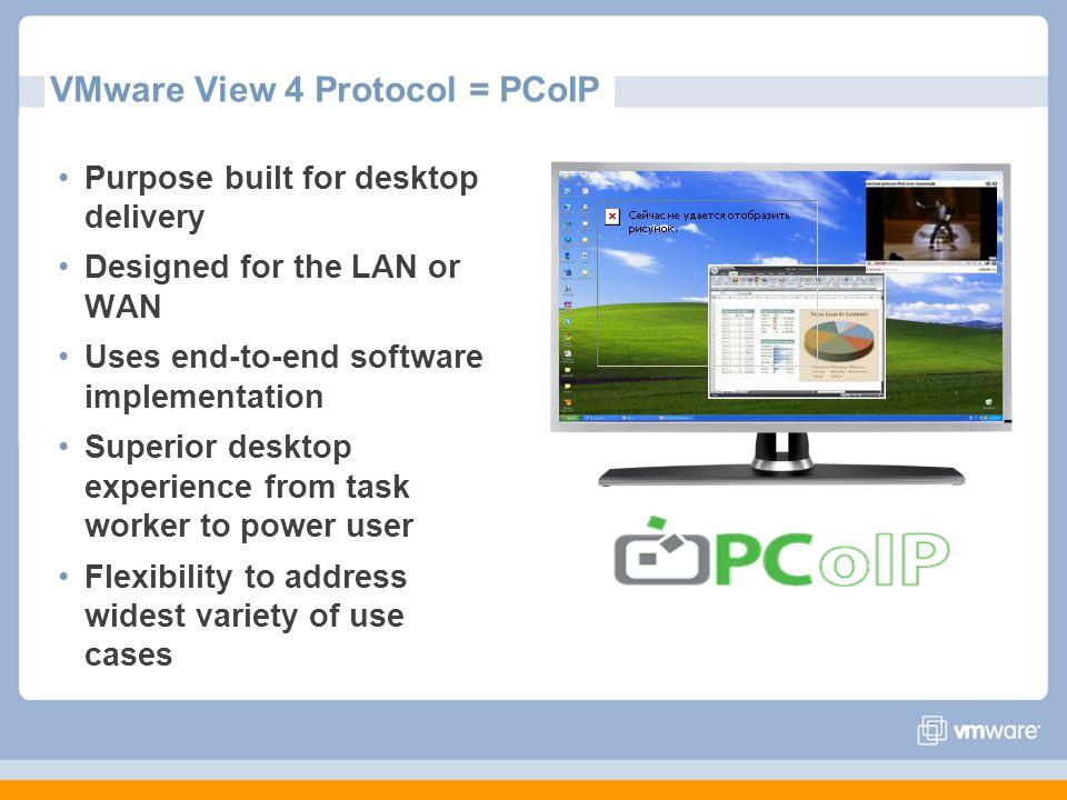 VMware View 4 Protocol = PCoIP