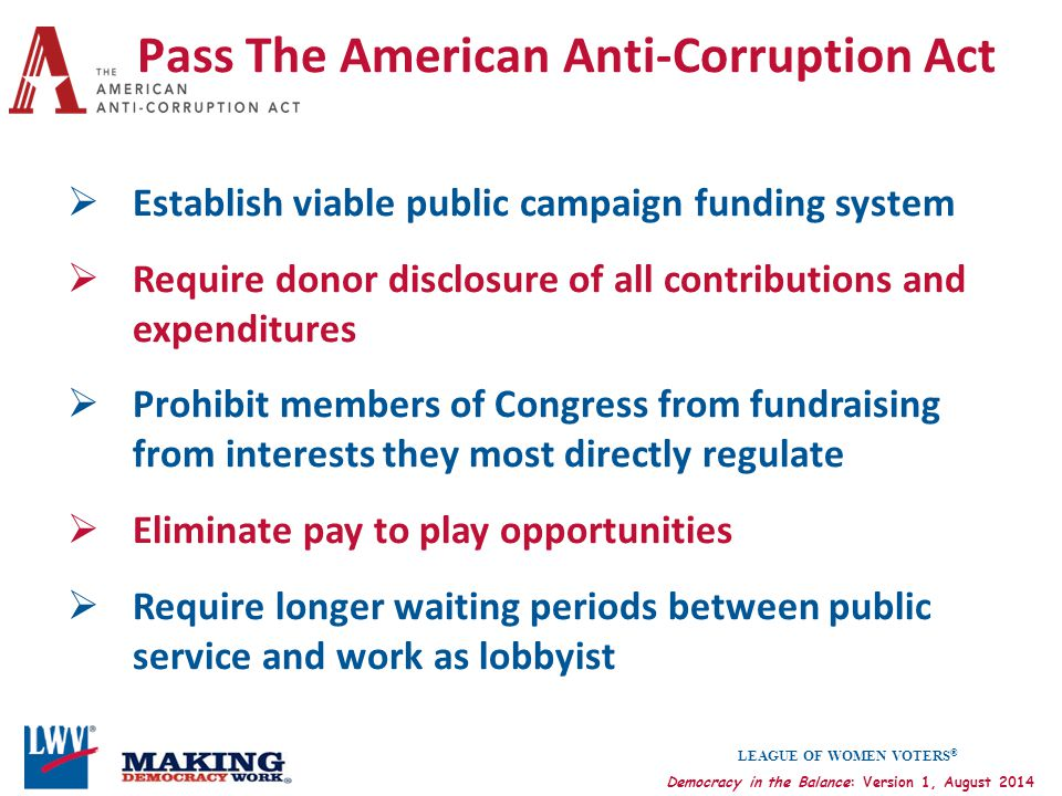 Pass The American Anti-Corruption Act