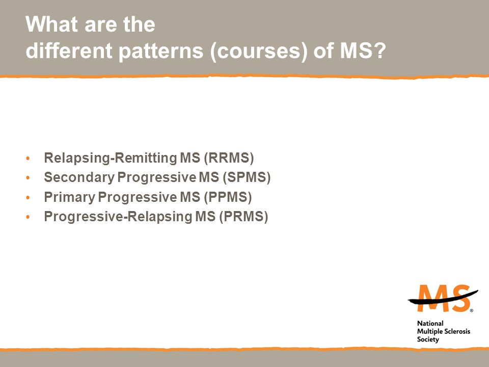 What are the different patterns (courses) of MS