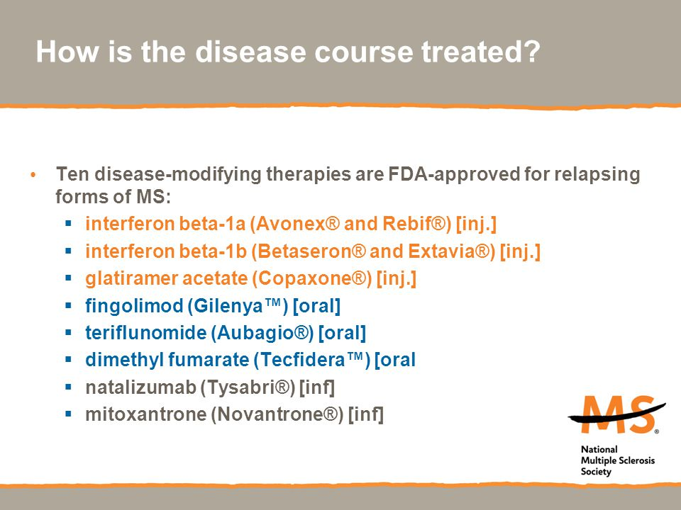 How is the disease course treated