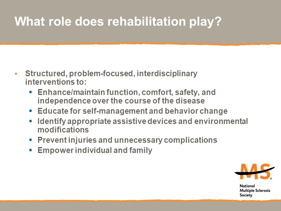 What role does rehabilitation play