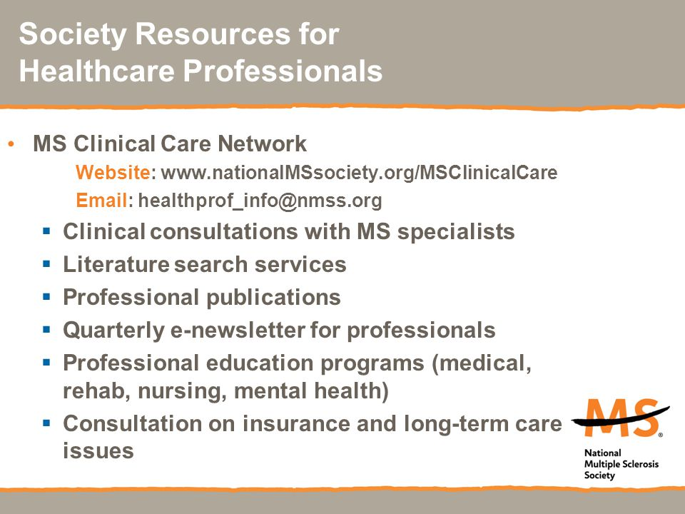 Society Resources for Healthcare Professionals