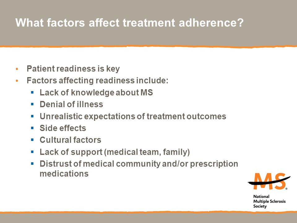What factors affect treatment adherence