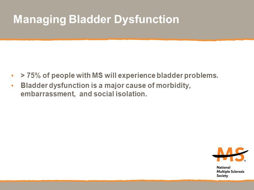 Managing Bladder Dysfunction