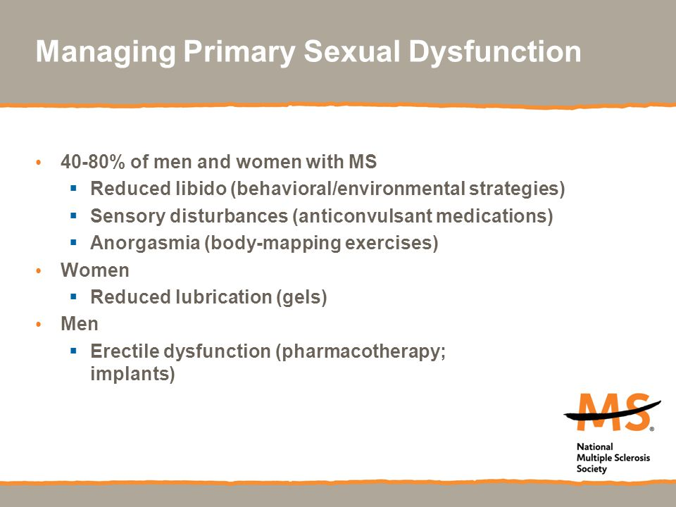 Managing Primary Sexual Dysfunction