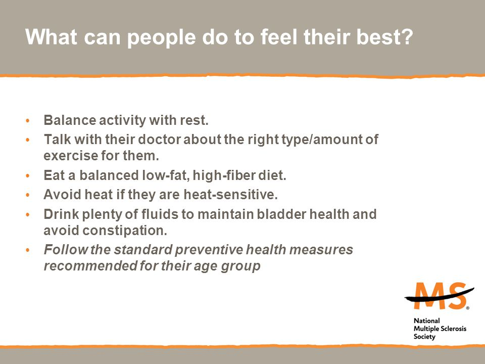 What can people do to feel their best