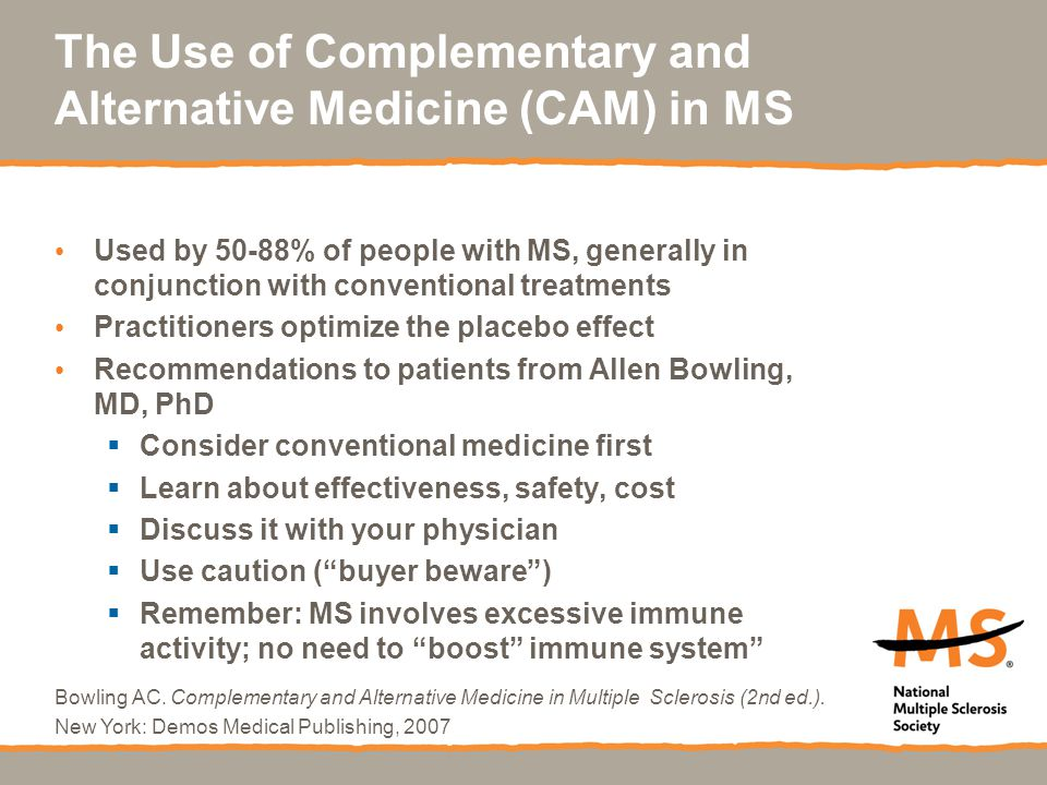 The Use of Complementary and Alternative Medicine (CAM) in MS