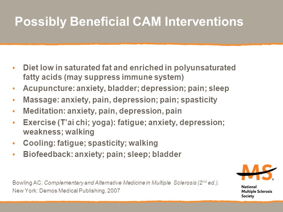 Possibly Beneficial CAM Interventions
