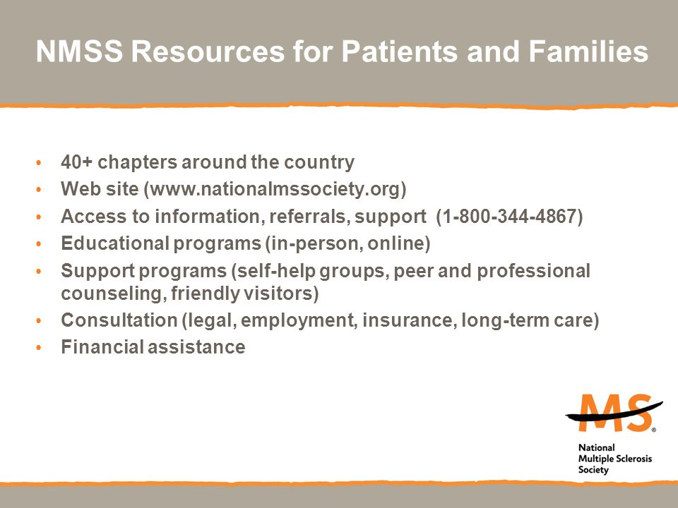 NMSS Resources for Patients and Families