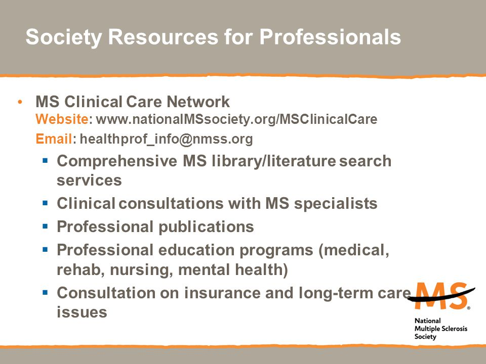 Society Resources for Professionals
