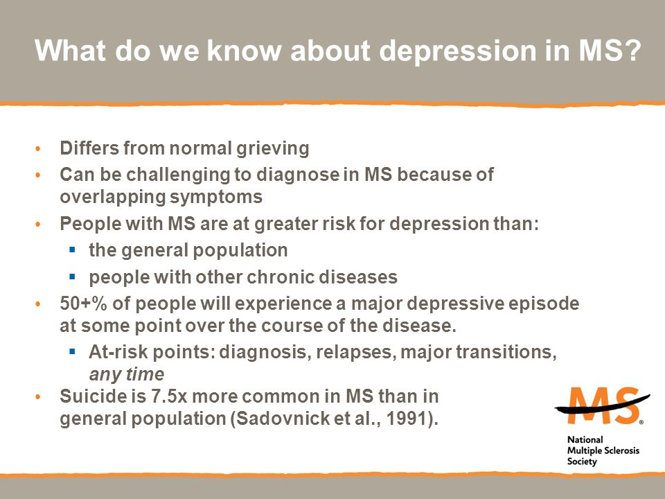 What do we know about depression in MS