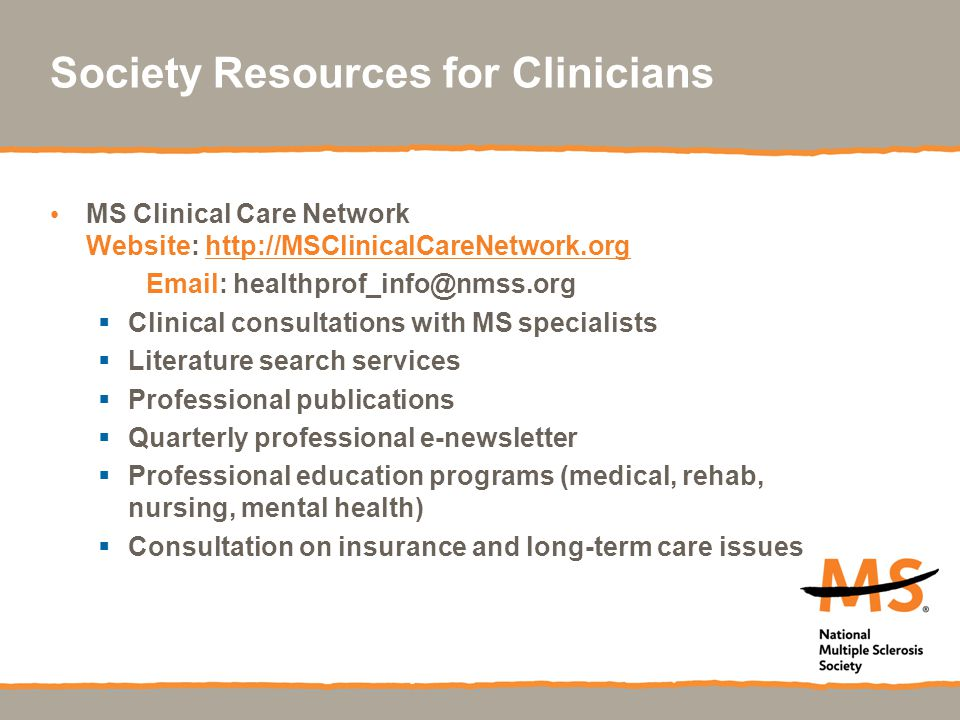 Society Resources for Clinicians