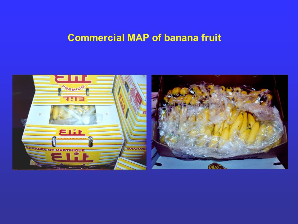 Commercial MAP of banana fruit