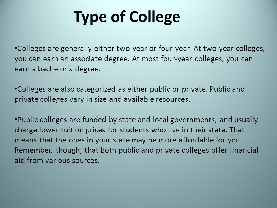 Type of College