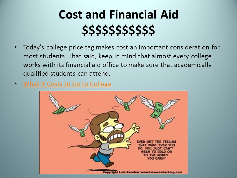 Cost and Financial Aid $$$$$$$$$$$