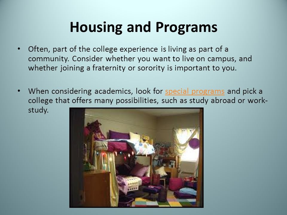 Housing and Programs