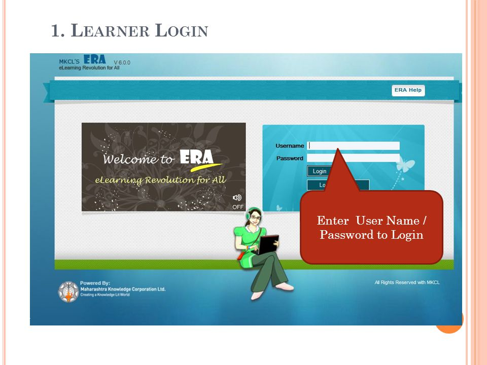 Enter User Name / Password to Login