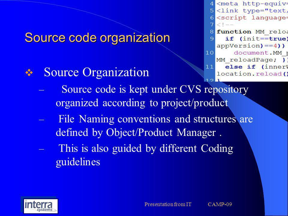 Source code organization