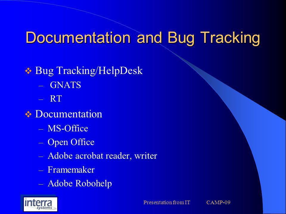 Documentation and Bug Tracking