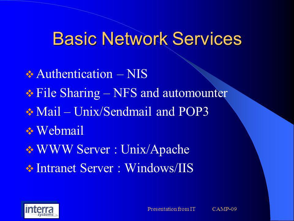 Basic Network Services