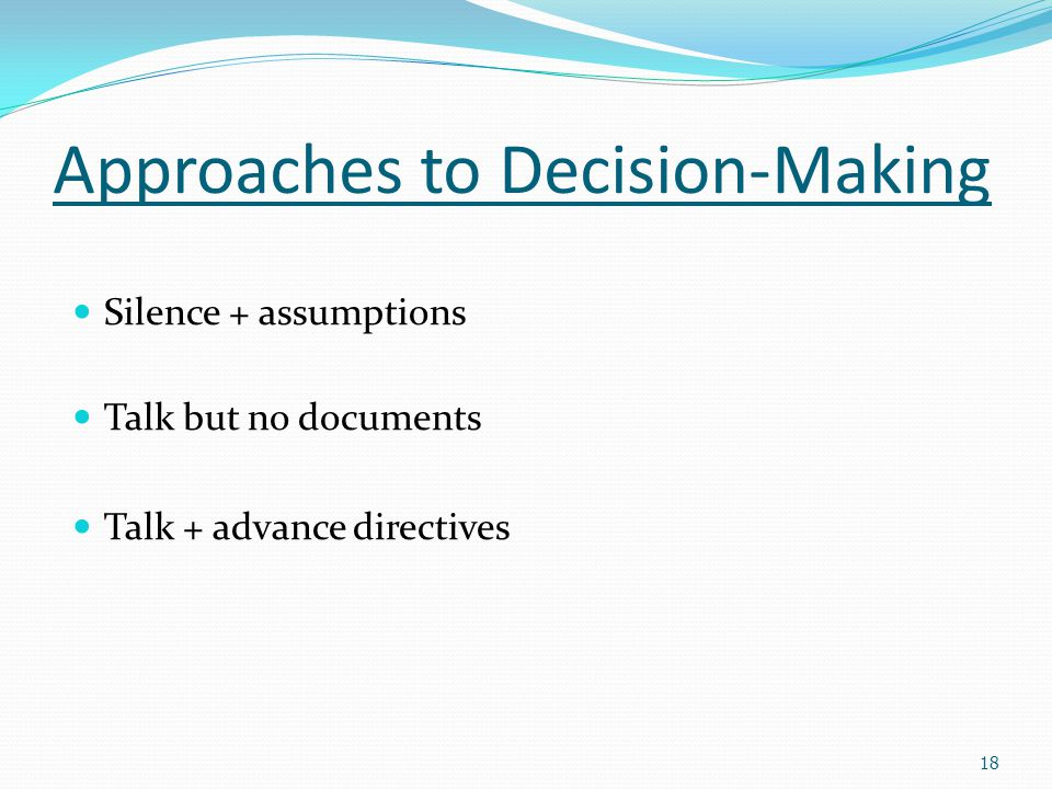 Approaches to Decision-Making