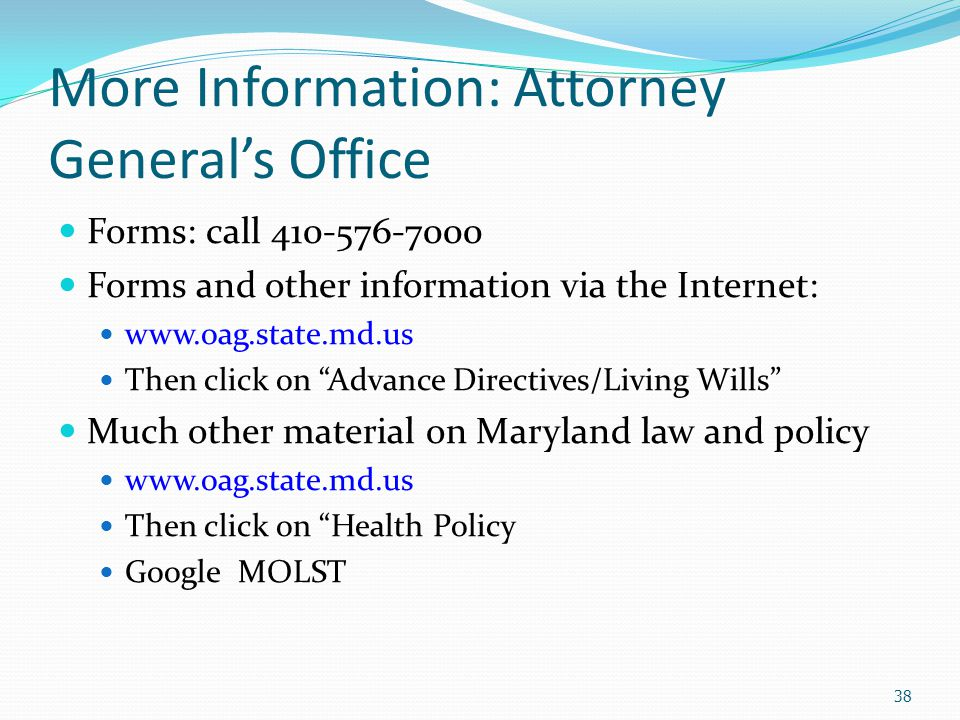 More Information: Attorney General's Office