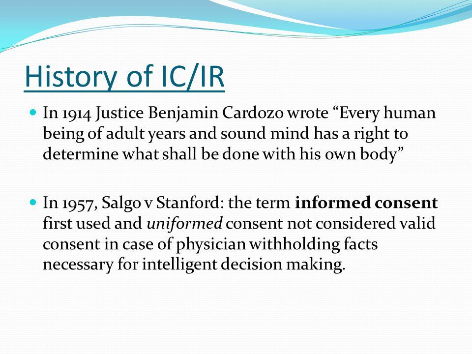 History of IC/IR