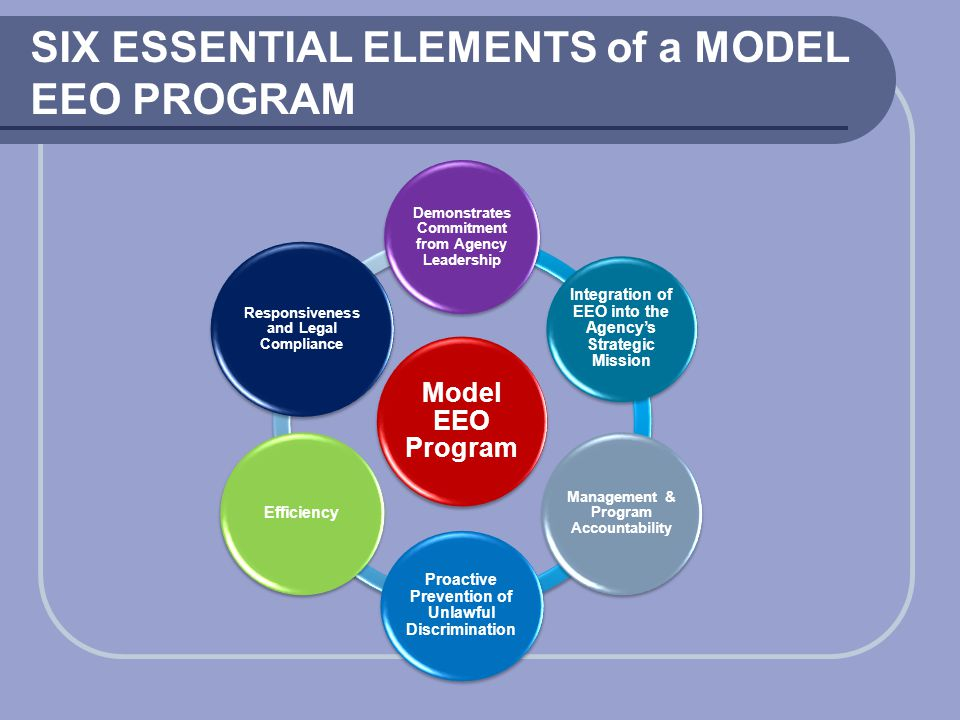 SIX ESSENTIAL ELEMENTS of a MODEL EEO PROGRAM