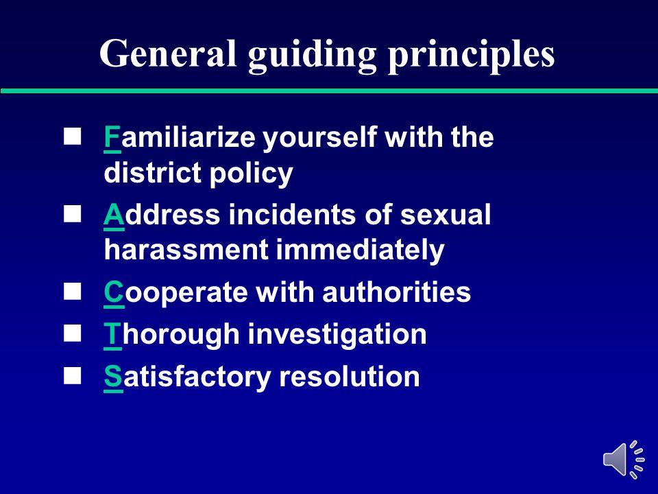 General guiding principles