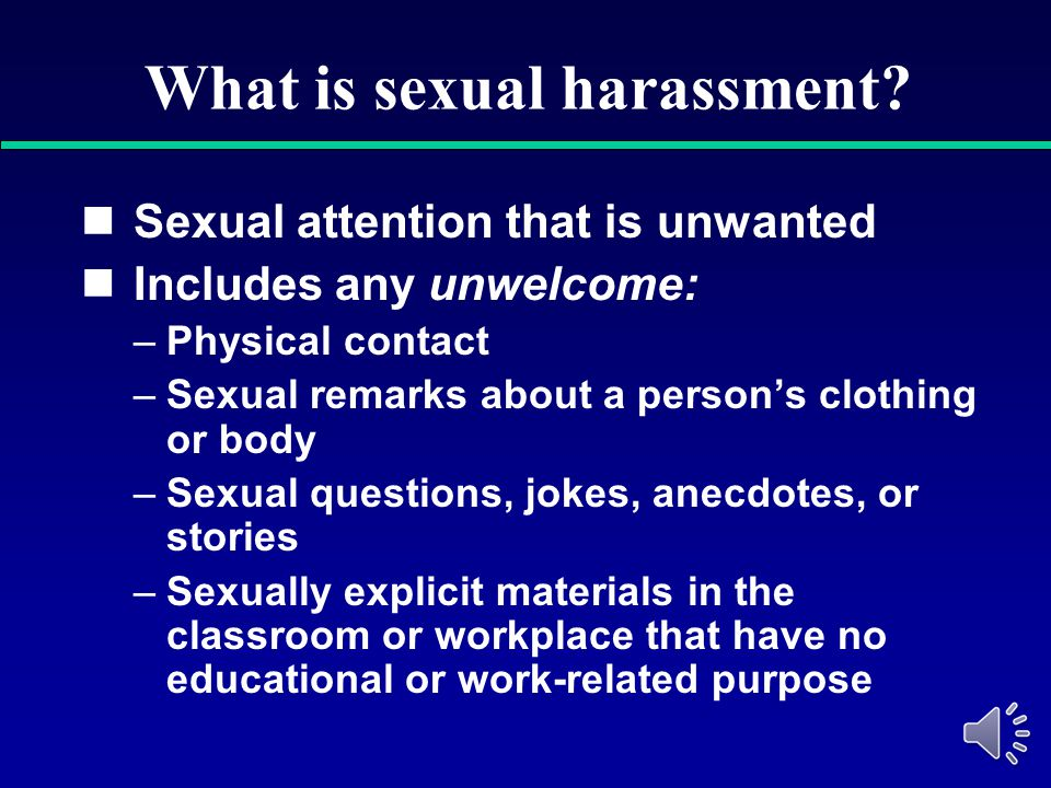 Harassment quiz sexual business