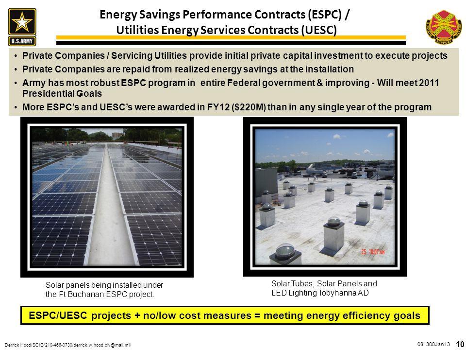 Energy Savings Performance Contracts (ESPC) /